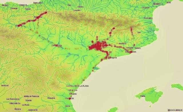 Mapa de control de rutes